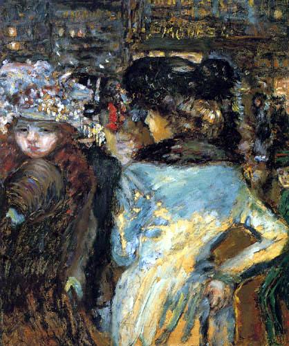 Pierre Bonnard - Place Clichy, Zwei elegante Damen