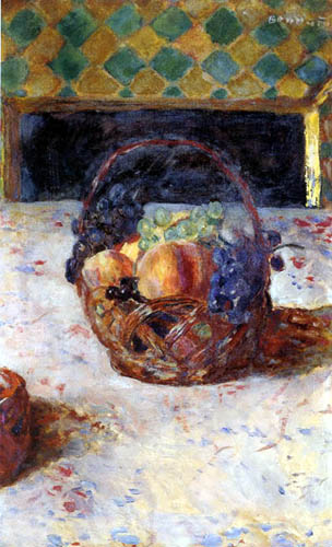 Pierre Bonnard - Black Grapes and Peaches