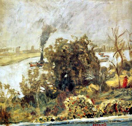 Pierre Bonnard - Une barge sur la Seine