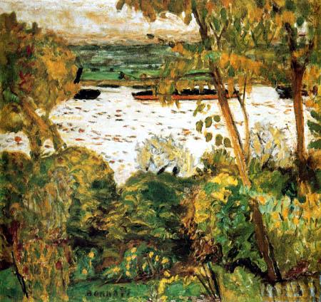 Pierre Bonnard - Barge à Vernon