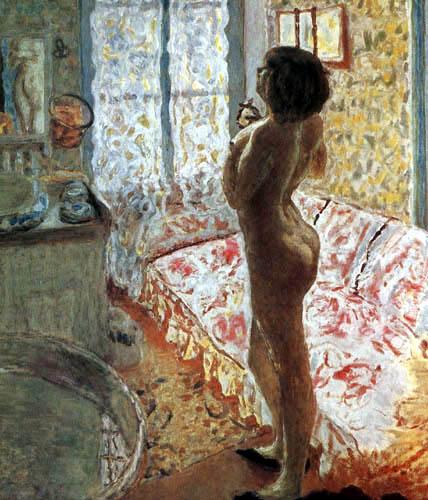 Pierre Bonnard - Weiblicher Akt im Gegenlicht