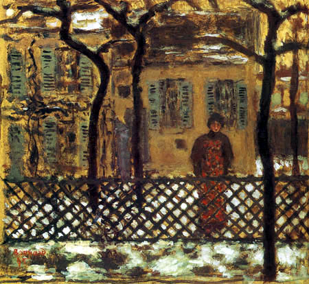 Pierre Bonnard - Behind the garden fence