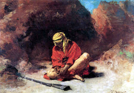 Léon Joseph Bonnat - Arab with a spine in the foot