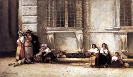 Léon Joseph Bonnat - Neapolitan Peasants