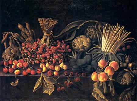 Pietro Paolo Bonzi ( Il Gobbo dei Carracci o dei Frutti) - Still Life with Fruits and Strawberries