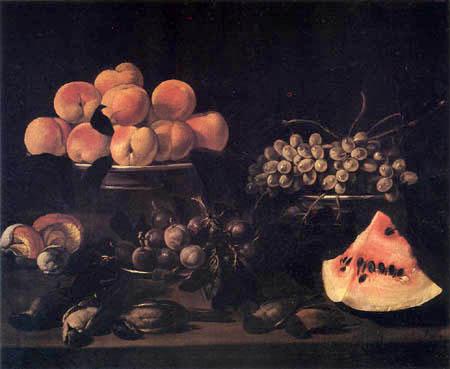 Pietro Paolo Bonzi ( Il Gobbo dei Carracci o dei Frutti) - Stilleben mit Früchten, Pilzen und toten Vögeln
