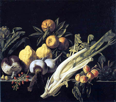 Pietro Paolo Bonzi ( Il Gobbo dei Carracci o dei Frutti) - Still Life with Fruits and Vegetables