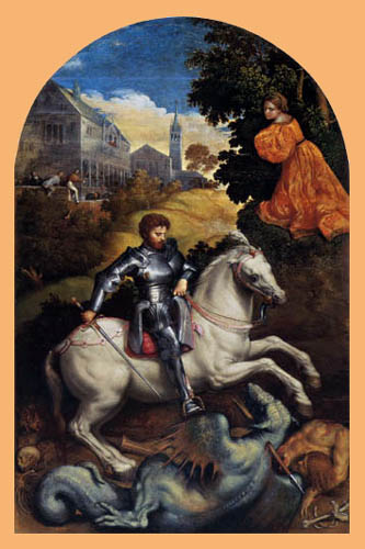 Paris Bordone (Bordon) - Saint George slaying the dragon