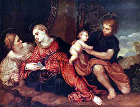 Paris Bordone (Bordon) - The Holy Family