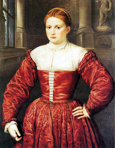 Paris Bordone (Bordon) - Portrait of a Lady of the Fugger Family