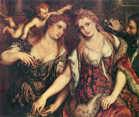 Paris Bordone (Bordon) - Flora, Venus, Mars and Cupid
