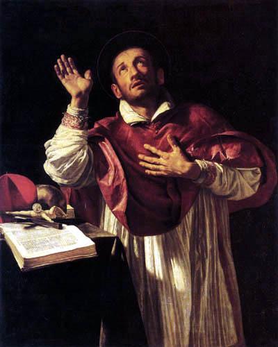 Orazio Borgianni - Saint Charles Borromeo