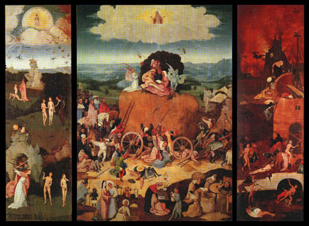Hieronymus Hieronymus - Triptych of the Hay Wagon