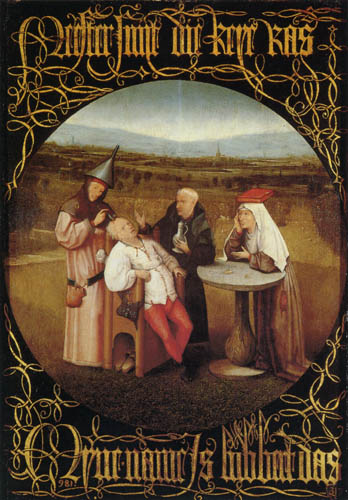 Hieronymus Hieronymus - Cutting the Stone or The Extraction of the Stone of Madness