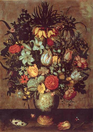 Ambrosius Bosschaert - Flowers in a Vase