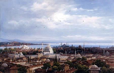 Carlo Bossoli - Blick auf Konstantinopel