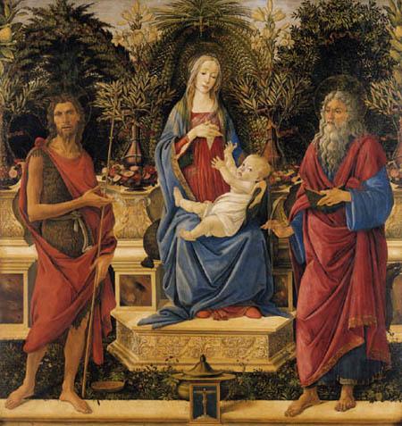 Sandro Botticelli - Thronende Maria