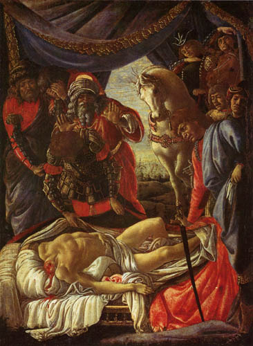 Sandro Botticelli - Discovery of the dead Holofernes