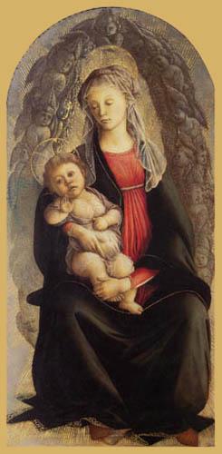 Sandro Botticelli - Madonna mit Kind