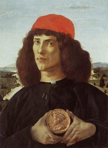 Sandro Botticelli - Porträt eines Mannes