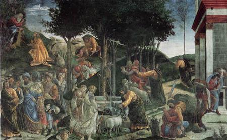 Sandro Botticelli - Prüfungen des Moses
