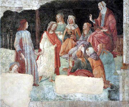Sandro Botticelli - Un hombre se introduce en las artes liberales