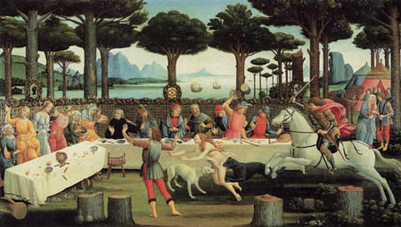 Sandro Botticelli - The Banquet in the Pinewood
