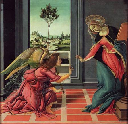 Sandro Botticelli - La Anunciación