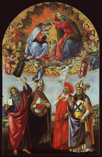 Sandro Botticelli - Coronation of the Virgin