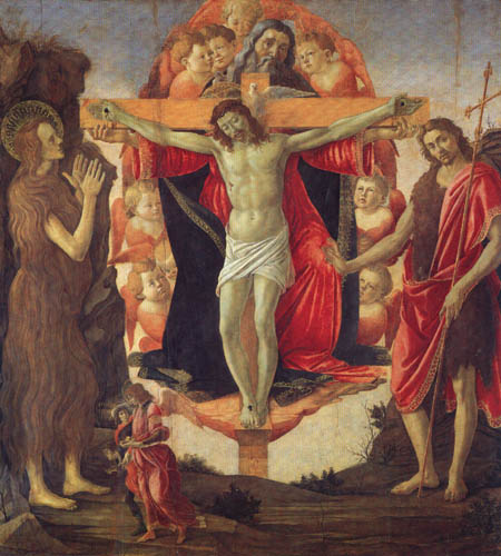 Sandro Botticelli - Trinität mit Maria Magdalena