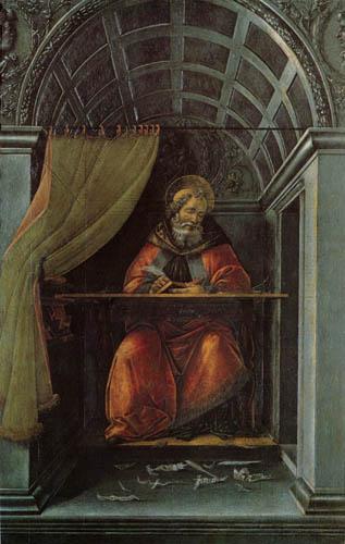 Sandro Botticelli - San Agustín escribiendo