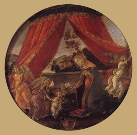 Sandro Botticelli - Madona con Niño Jesús y Ángel