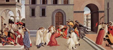 Sandro Botticelli - Three miracles of St. Zenobius