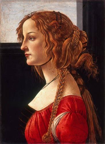Sandro Botticelli - Profilbildnis einer Dame