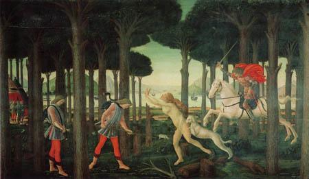 Sandro Botticelli - Die Begegnung mit den Verdammten im Pinienwald