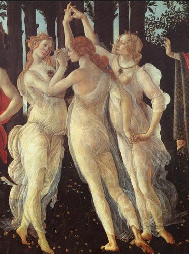 Sandro Botticelli - Der Frühling, Die drei Grazien