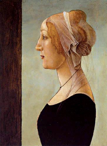 Sandro Botticelli - Retrato de una mujer