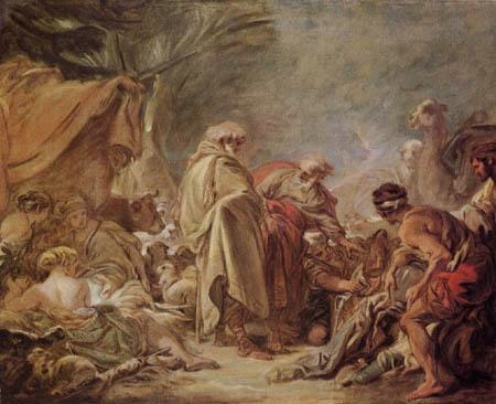François Boucher - Laban seine Götzen suchend