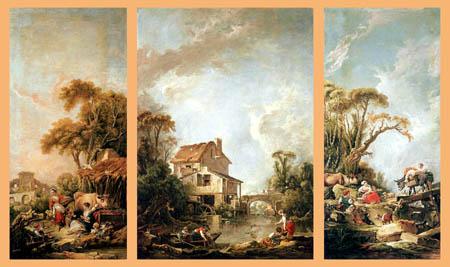 François Boucher - Glückliches Dorf