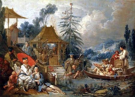 François Boucher - Fishing Chinese