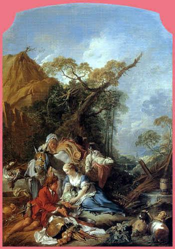 François Boucher - The return of the market