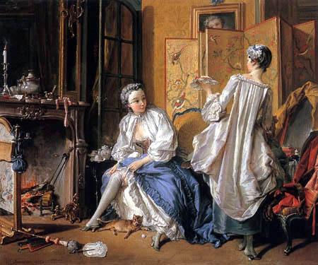 François Boucher - A Lady