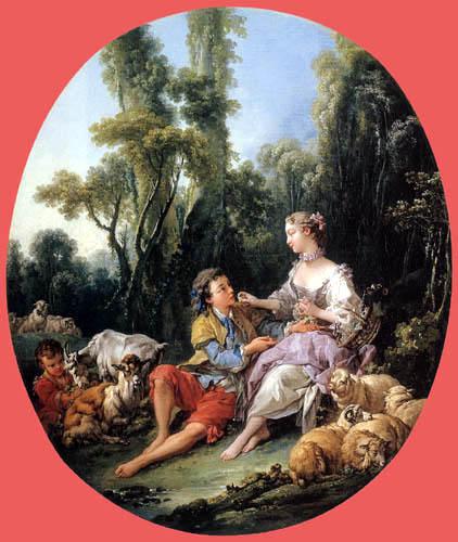 François Boucher - Young couple