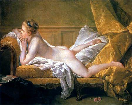 François Boucher - Resting girl