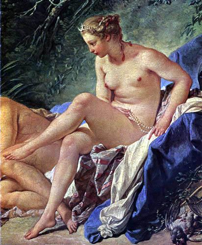 François Boucher - Diana im Bade, Detail