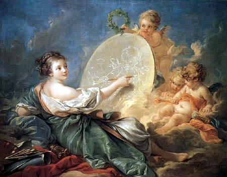 François Boucher - Allegorie der Malerei