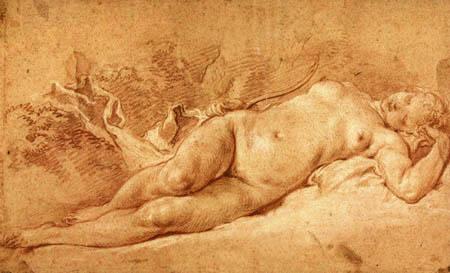 François Boucher - Sleeping Diane