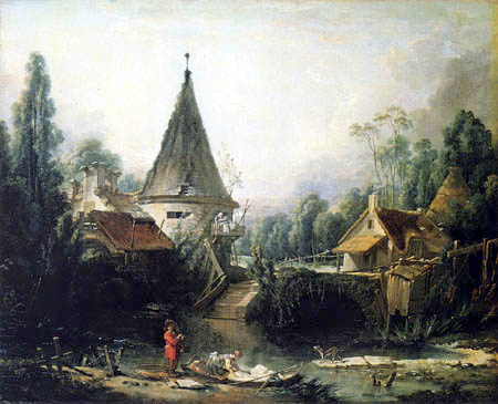 François Boucher - Landscape in the Vicinity of Beauvais