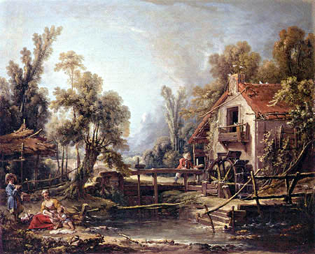 François Boucher - The Water Mill