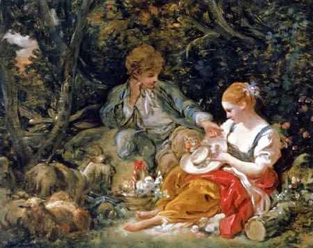 François Boucher - Die jungen Verliebten